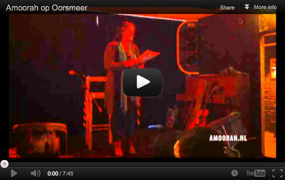"""""""Mijn omaatje"""" voordracht op 'Oorsmeer' (2012)"""